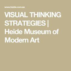 VISUAL THINKING STRATEGIES | Heide Museum of Modern Art