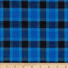 Yarn Dyed Flannel Plaid Blue/Black