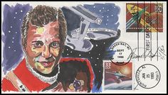 Uss Enterprise Ncc 1701, Space Fantasy, William Shatner, First Day Covers, Water Colors, Wild Horses, Beautiful Hands, Star Trek, Hand Painted