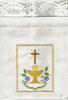 Cross Stitch Owl, Cross Stitch Bookmarks, Cross Stitch Borders, Cross Stitch Charts, Cross Stitch Embroidery, Hand Embroidery, Cross Stitch Patterns, Communion, Easter Cross