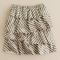 sale - AllProducts - Girls' stripe taffeta tier skirt - J. Sewing Ideas, Sewing Projects, Little Girl Skirts, How To Make Clothes, Tiered Skirts, Summer Skirts, Little Girl Fashion, Virtual Closet, Refashion