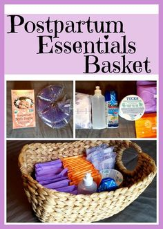 DIY Postpartum Essentials Basket: What new mamas need after baby