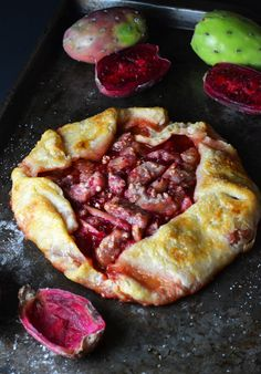 How to make a Prickly Pear Galette by Natalie Paramore #recipe #pie #pricklypear