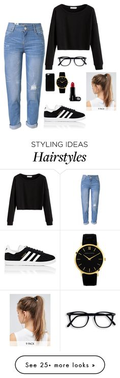 """""""Mariana"""" by briquel13287 on Polyvore featuring WithChic, adidas, Maison Margiela and NIKE"""