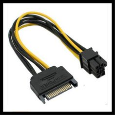 SATA power 15p to 6P graphics card reverse power adapter cable 6PIN graphics card power cord copper core