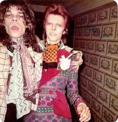 superseventies:  David Johansen of the New York Dolls with David Bowie