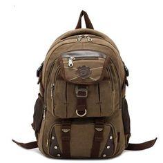 a6bc62b85666 Ares - Vintage Canvas Traveller Backpack - LeafySouls Kézitáskák, Bőröndök,  Hátizsákok, Hétköznapi,