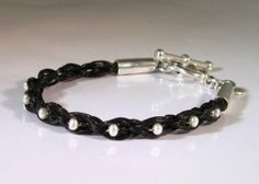 Hair Jewelry - Accessories that we use are made from different materials and one of them is horse hair. They are most commonly used for making bracelets as they can be easily formed and they can also be found in nec Horse Hair Bracelet, Horse Hair Jewelry, Braided Bracelets, Metal Bracelets, Leather Jewelry, Metal Jewelry, Leather Cuffs, Gothic Jewelry, Luxury Jewelry