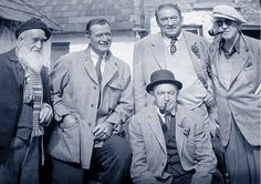 Francis Ford, John Wayne, Victor McLaglen, John Ford, Barry Fitzgerald ~ The (not so) Quiet Men