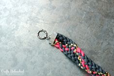 Paracord Kumihimo Bracelet Tutorial - Great Gift for Under $10!  use square foam board