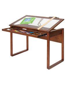 Studio Designs 13280   Ponderosa Glass Topped Table   Sonoma Brown