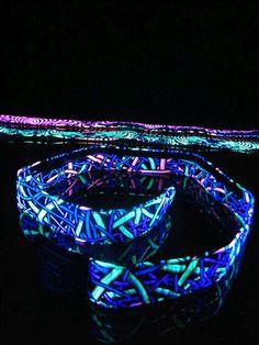 """Schwarzlicht Neon Gürtel 90cm """"Wired Jungle"""" #blacklight #schwarzlicht #spacetribe #clothing #belt #psy"""