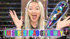 One Million Subscriber Giveaway - Glitter Cannon Nail Art Tutorial - iPa...