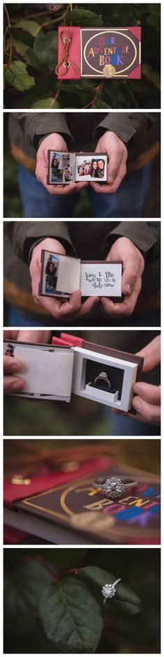 Awesome Custom Ring Box inspired by the movie UP! This was the perfect surprise for this adventurous couple! Watch the Proposal here:… Perfect Wedding, Our Wedding, Dream Wedding, Wedding Ideas, Trendy Wedding, Wedding Poses, Wedding Pictures, Wedding Details, Propositions Mariage
