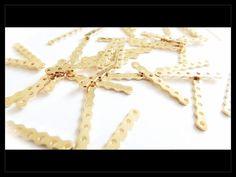 SLO0001 Separador con 7 orificios en chapa de oro 14k, ideal para semanarios Egipcios, precio x gramo $3.10 pesos, precio medio mayoreo (100 gramos)$3, precio mayoreo (250 gramos)$2.90, precio VIP(500 gramos) $2.80 pesos