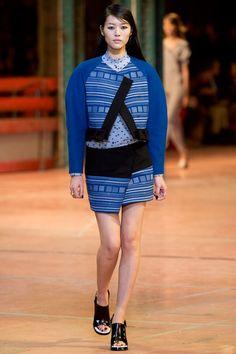 Kenzo RTW Fall 2013. blues. mixed prints. wrap skirt. chubby. surreal. #fall2013 #paris #Kenzo