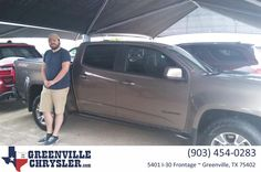 I bought a 2015 Chevrolet Colorado from Greenville Chrysler. Josh was very helpful and respectful of our time. I will send any of my friends and family to him as he was easy to work with!!! - Austin Lee #HappyCustomers #MondayMotivation