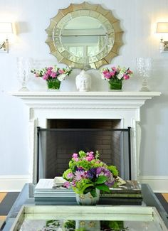 how to decorate a fireplace mantel mirror