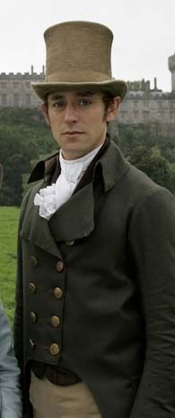 J.J. Feild as Henry Tilney, Northanger Abbey, 2007. Perhaps, it's because I had already seen screencaps from the movie by the time I finally read the book, but I thought he captured Tilney perfectly.