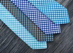 19a25418681e Gingham bowtie - royal blue gingham tie - gingham ties - men's ties - aqua  ties - teal ties for men - navy ties for men - groomsmen ties