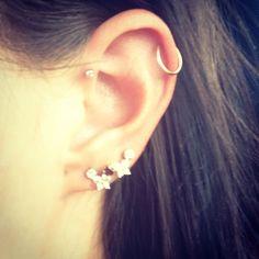 My next piercing, single forward helix Cute Cartilage Piercing, Front Helix Piercing, Forward Helix Piercing, Cute Piercings, Piercing Tattoo, Just Girly Things, Crazy Things, Helix Hoop, Body Mods