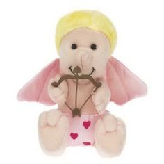 """Valentine's Day themed 6"""" plush toy stuffed Cupid. Plush holiday fun. Accessories priced separately. Stuffed Animal, plush toy, stuffed toy, custom."""