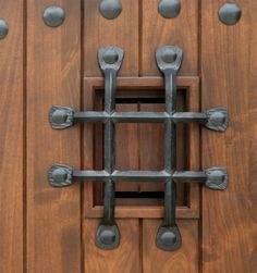 how to make medieval doors with iron studs - Google Search
