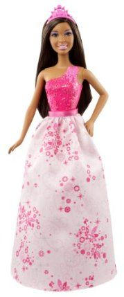 Mattel Barbie Princess Fairytale African-American Doll by Mattel. $10.99. Barbie is dressed in a full-length glittery gown. Every girl wants to be a Barbie Princess. Wears a sparkling tiara and elegant shoes for the perfect ensemble. Gorgeous removable skirt that can be mixed and matched with other sets. Perfect doll to add to your Barbie collection. From the Manufacturer                Barbie Princess Fairytale African-American Doll: Discover Barbie Fairytale Mag...