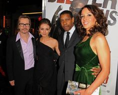 """Actors Gary Oldman, Mila Kunis, Denzel Washington and Jennifer Beals arrive at """"The Book Of Eli"""" premiere held at Grauman's Chinese Theatre on January 2010 in Hollywood, California. Hollywood California, West Hollywood, Actor Gary Oldman, Alex Owens, The Book Of Eli, Jennifer Beals, Santa Monica Blvd, Denzel Washington, Mila Kunis"""