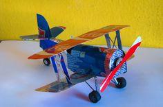 Soda can model airplane