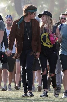 Tyler Blackburn and Ashley Benson Coachella Music Festival Day 3