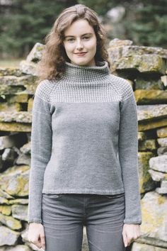 heidi pullover / from slip stitches, a collection by carrie bostick hoge / in quince & co. chickadee