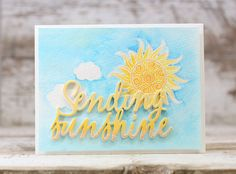 Sending Sunshine Card by Laurie Willison for Papertrey Ink (June 2016)