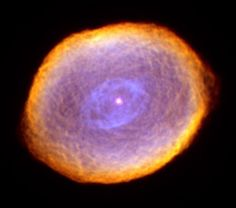 The Spirograph Nebula (IC 418) is a bright planetary nebula of approximately 0.3 light-year across, located in the Milky Way Galaxy, some 2,000 light-years away in the constellation of Lepus.