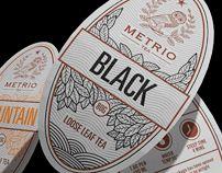 Metrio tea Package and label design