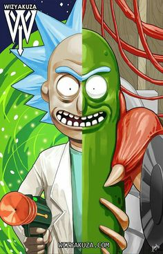 Half regular rick and half pickle rick.