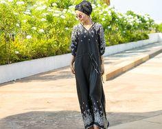 Maxi Dress  Boho  Black Kaftan  Bohemian Wear  Plus size by Akto, $26.99