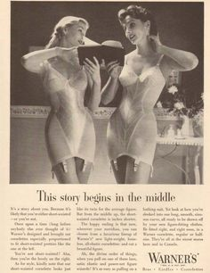 Women playing giant chess in bras, tulip women, a woman dragged by her hair by a caveman — 20 ads from the pre-Mad Men Warners - Interesting - Check out: Enter The Strange World Of Vintage Lingerie Ads on Barnorama Lingerie Vintage, Vintage Girdle, Classic Lingerie, Vintage Underwear, Mode Vintage, Vintage Ads, Vintage Designs, Ropa Interior Vintage, Full Figure Dress