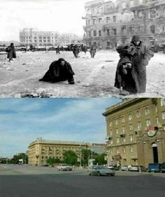 Then & Now Central Square, Stalingrad