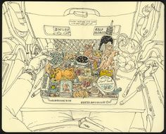 Mattias Adolfsson's Wildly Intricate Sketchbook and Doodle Artworks | Colossal