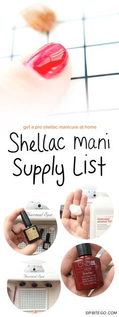 Diy at home shellac nails step by step instructions amy list of supplies to shellac manicure yourself at home solutioingenieria Image collections