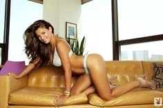 Jessica Workman on the Couch showing her tanned Tits - Click for more of FreeOnes