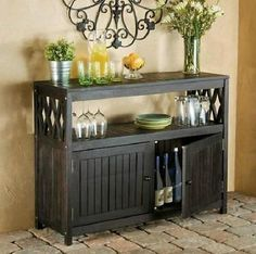 Epic Espresso Outdoor Eucalyptus Wood Sideboard Buffet Server Console Patio Furniture