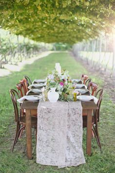 Italian garden reception // photo by Hello Love Photography // http://ruffledblog.com/italian-garden-party-inspiration