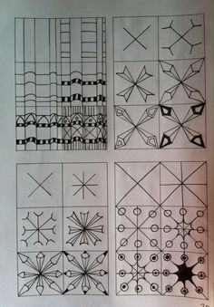 Zentangle tutorials Zentangle stappenplannen