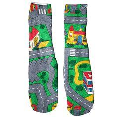 Carpet Track Foot Glove Socks