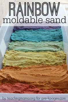 Make some moon sand in every shade.