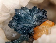 themineralogist:    Scorodite - Field of view is 10mm.