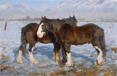Horse painting by Mark Malm Wildlife Paintings, Wildlife Art, Animal Paintings, Animal Drawings, Horse Paintings, Drawing Animals, Horse Drawings, Big Horses, Pretty Horses