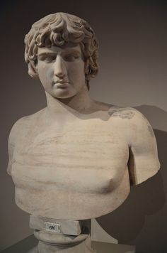 Bust of Antinous, 130 - 140 AD, from Rome, Altes Museum, Berlin | da Following Hadrian